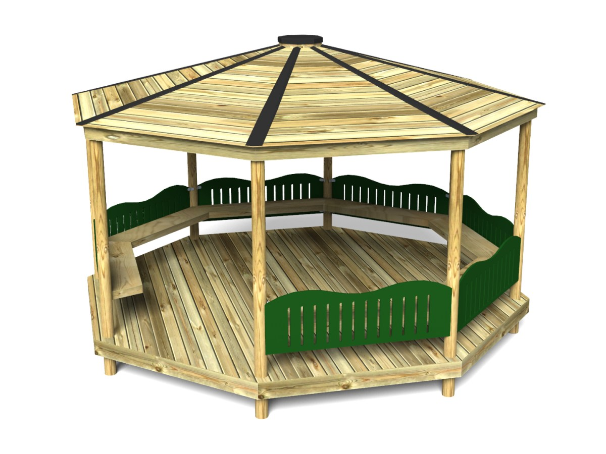 Octagonal Shelter with HDPE Barriers