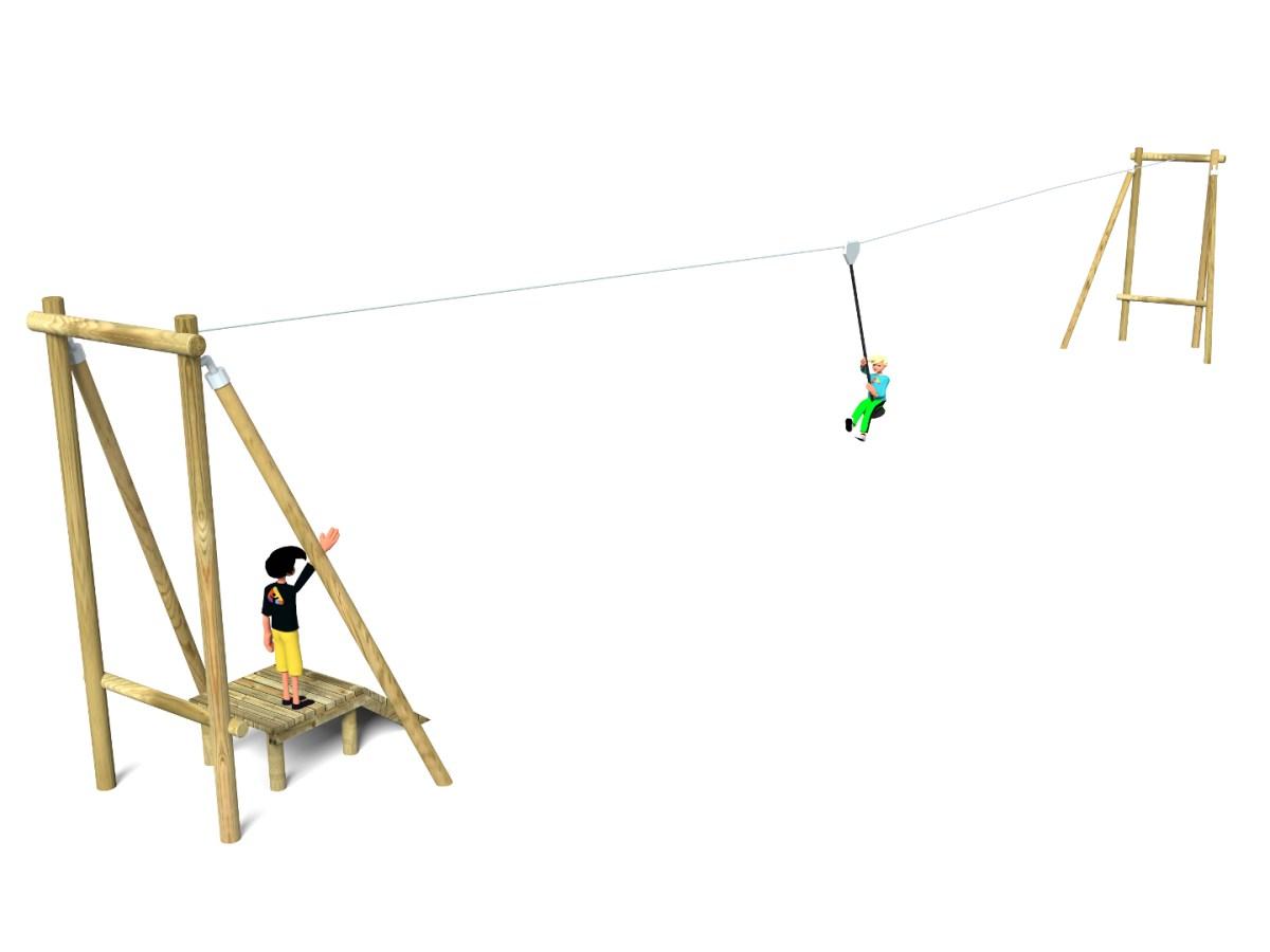 Timber Aerial Runway