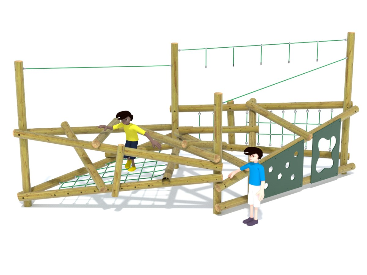 Forest Stack 4 Climbing Frame