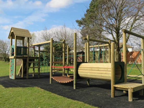Lavenham climbing frame and safergrass safety surfacing