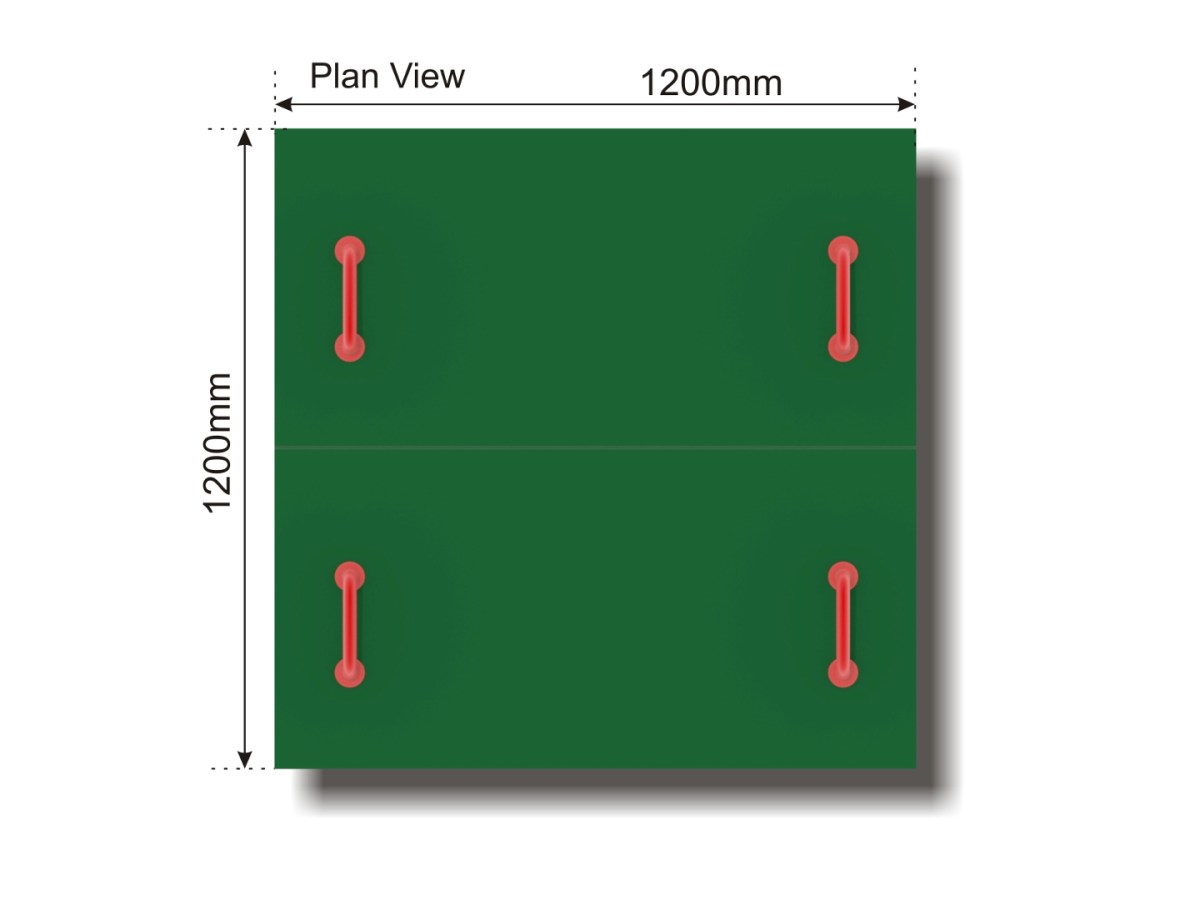All Access Sand Pit plan view