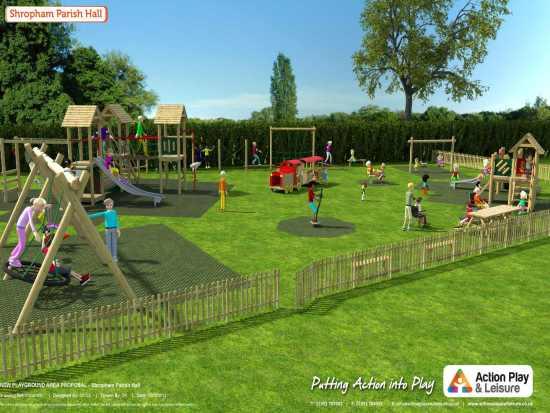 Shropham play area presentation