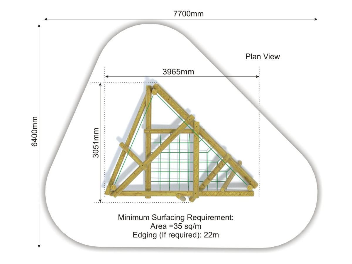 Forest Stack 2 Climbing Frame plan view