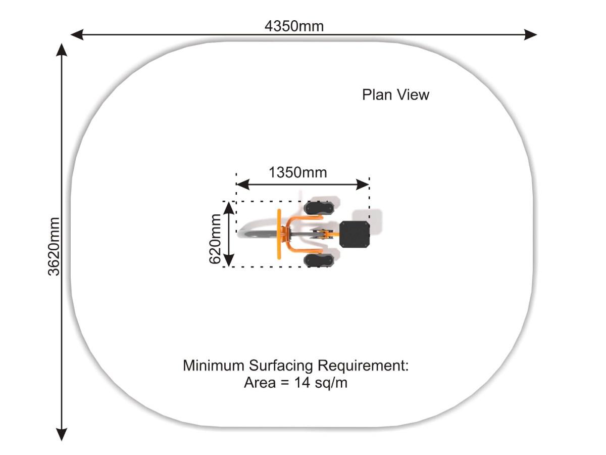 Rider plan view