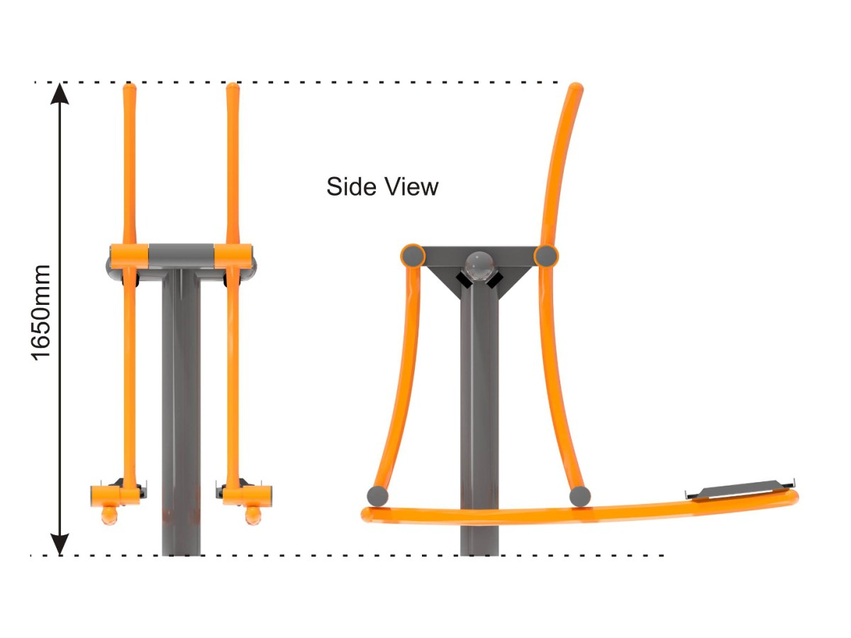 Skier Outdoor Cross Trainer side view