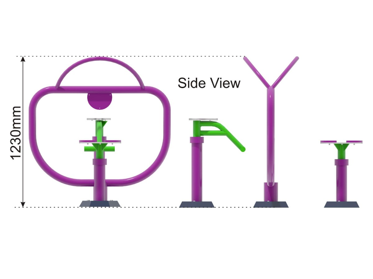 Twister & Sit Twister side view