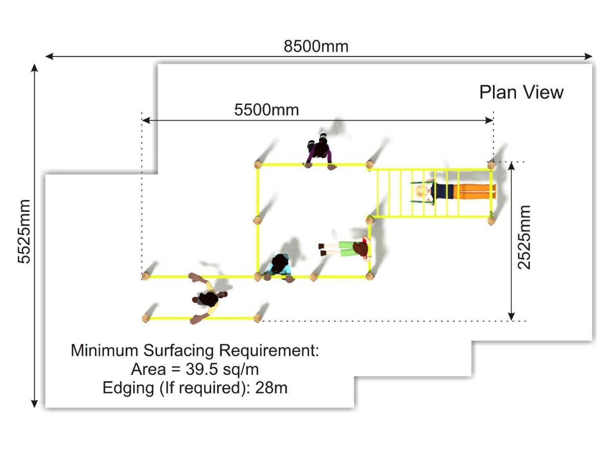 Outdoor Fitness Centre plan view