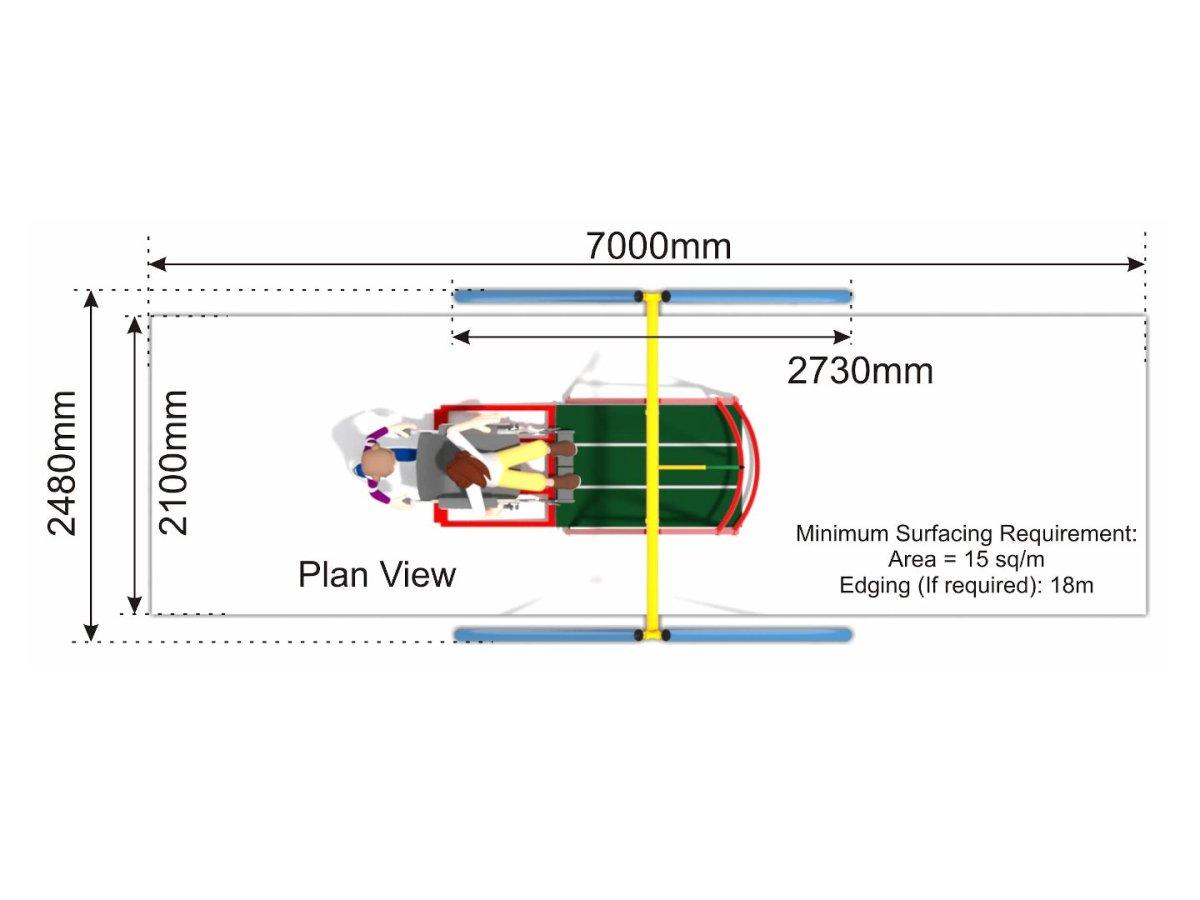 Wheelchair Swing 15 plan view