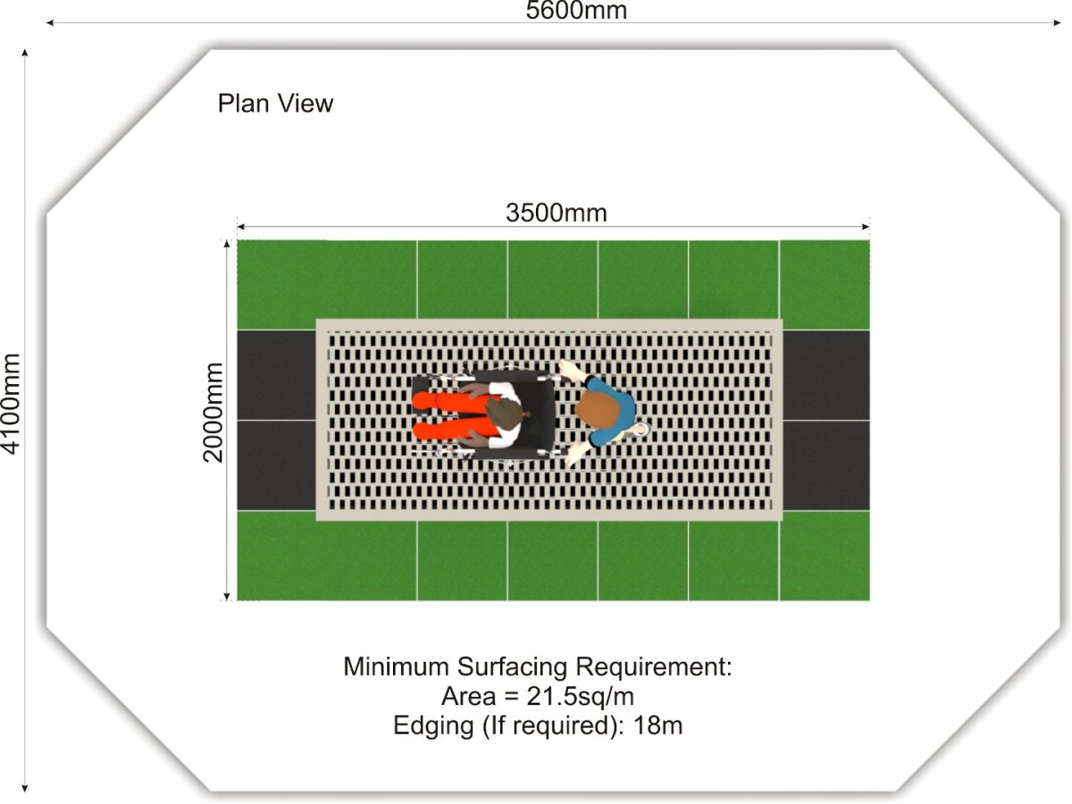 Wheelchair Trampoline plan view