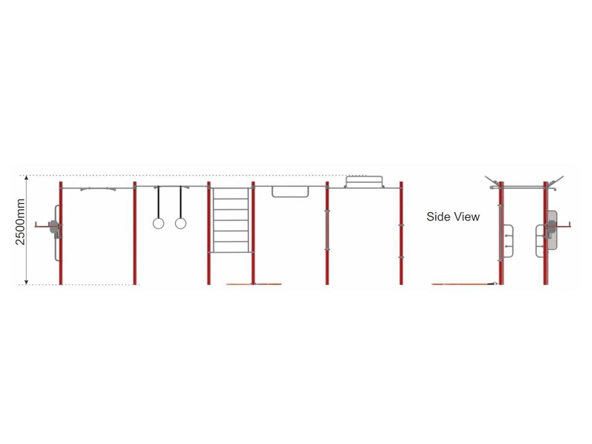 Street Workout Callisthenics – Set 1 side view