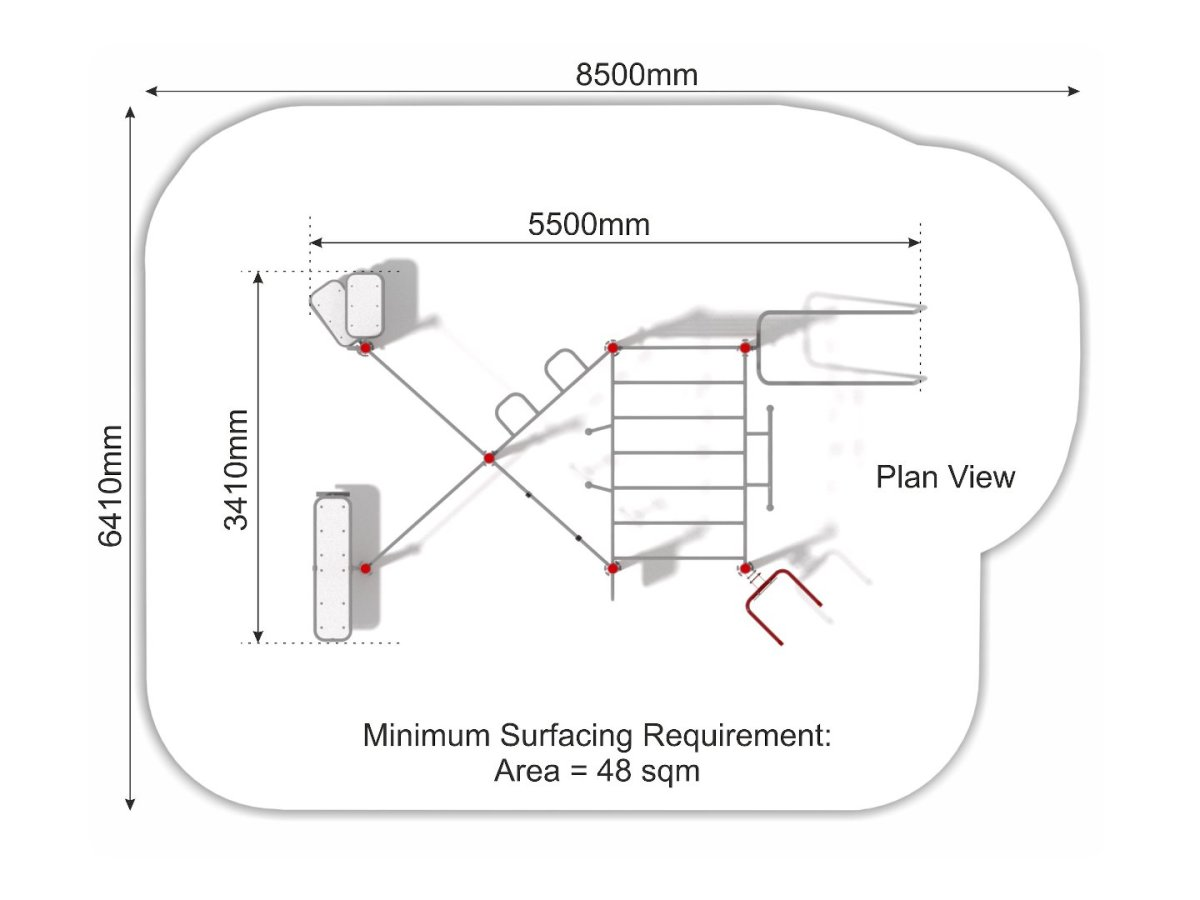 Street Workout Callisthenics – Set 4 plan view