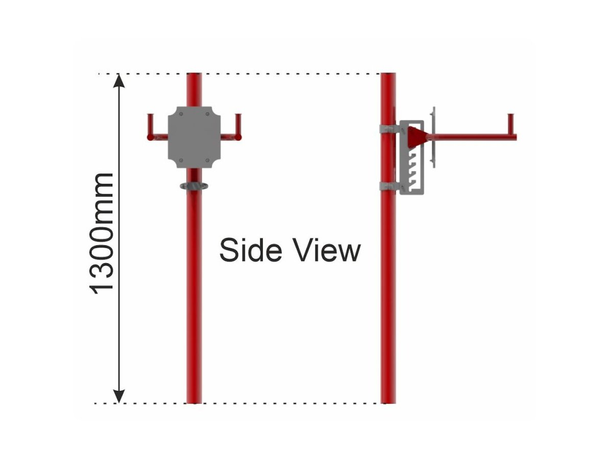Dip Bars with Adjustable Height side view