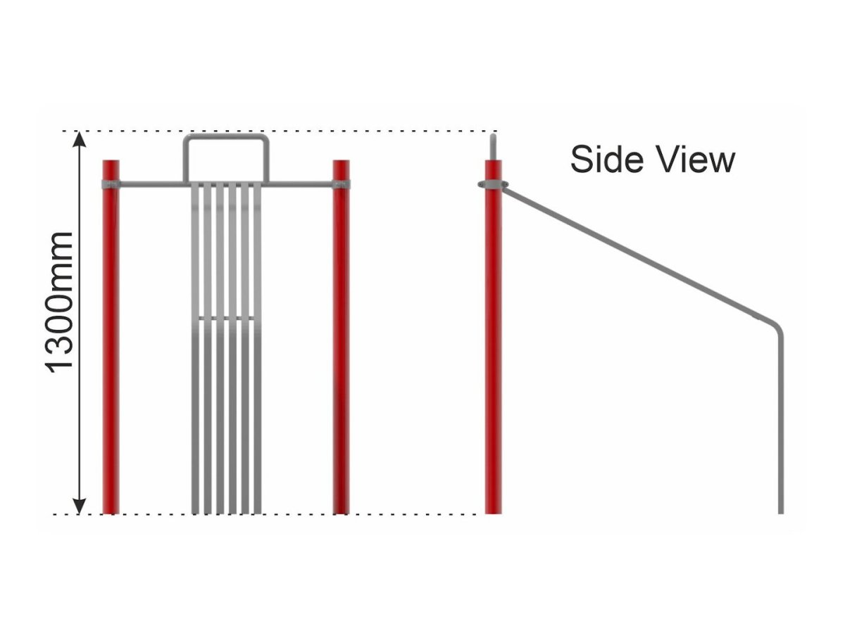 Slanted Sit Up Crunch Bench (High) side view