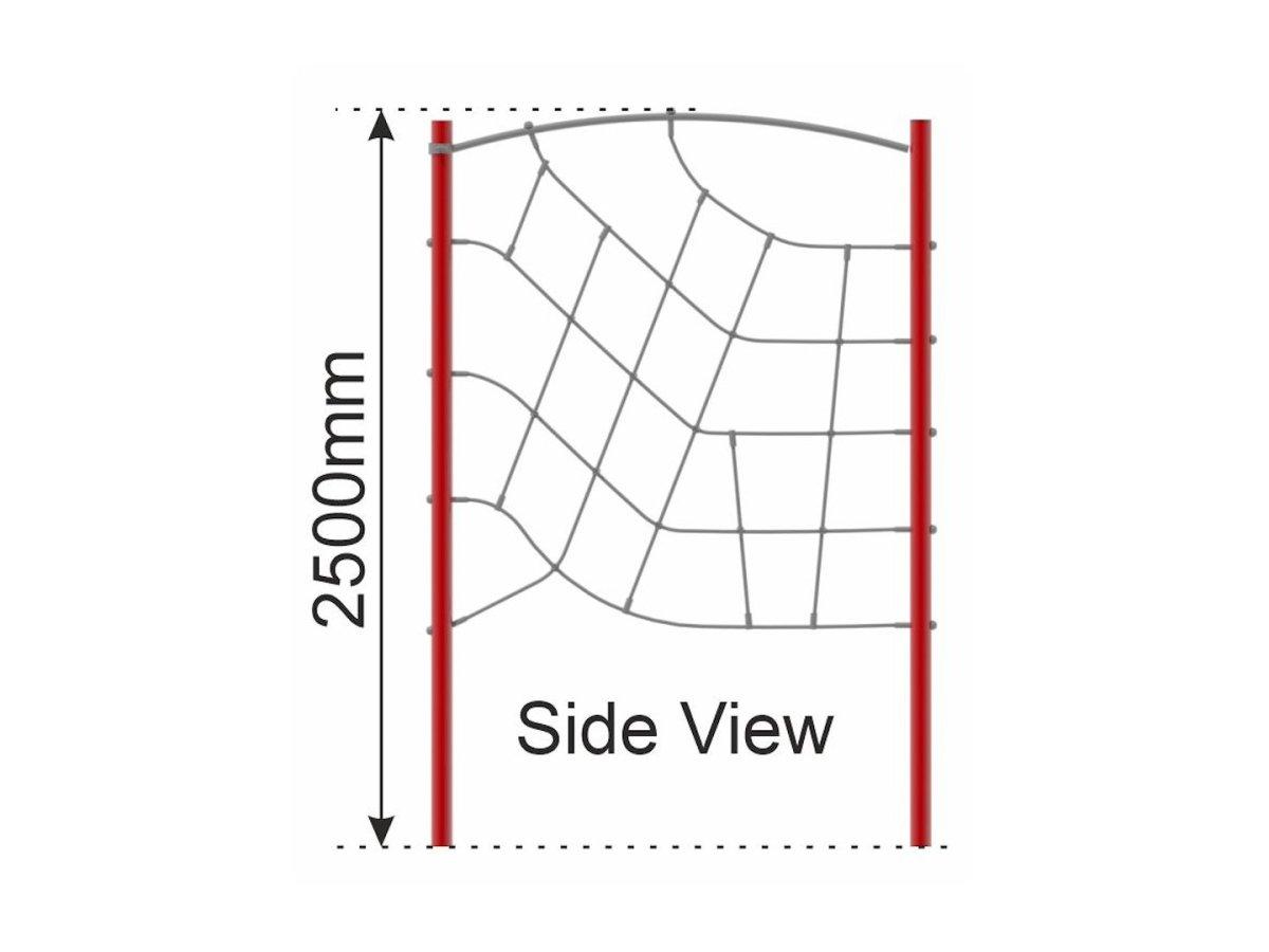 Net Wall (steel frame) side view
