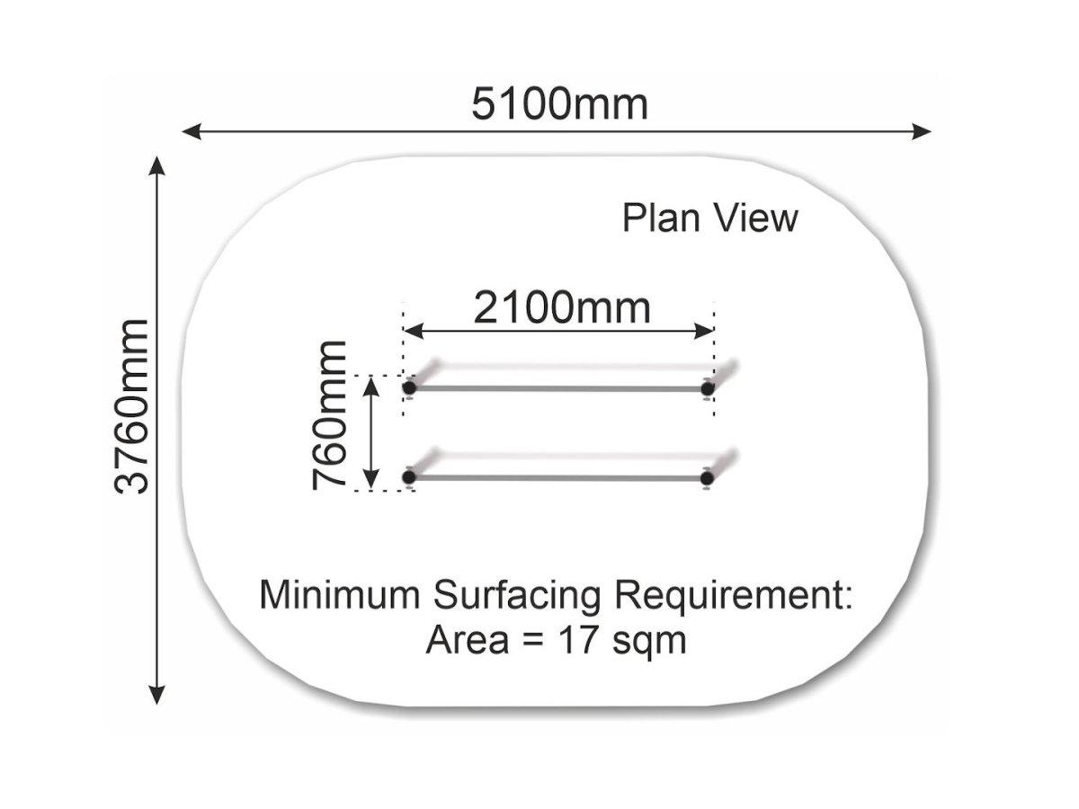 Parallel Bars (steel) plan view