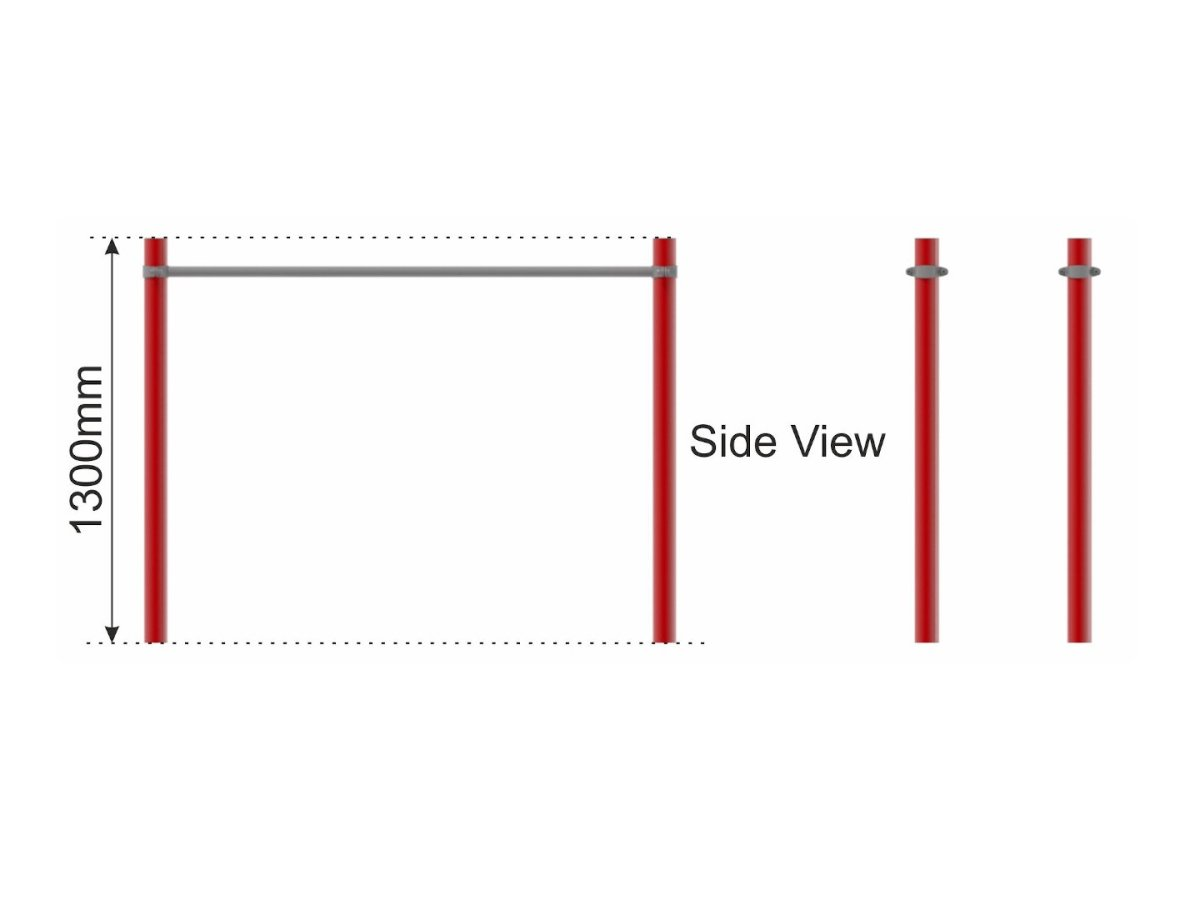 Parallel Bars (steel) side view