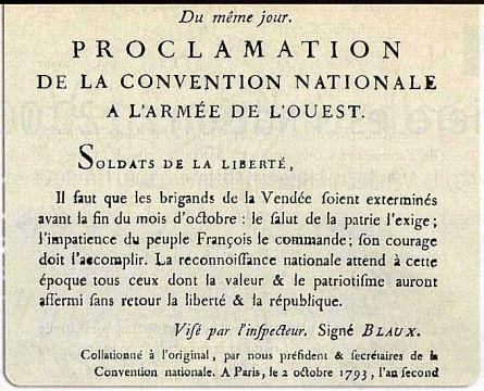 Proclamation d'extermination