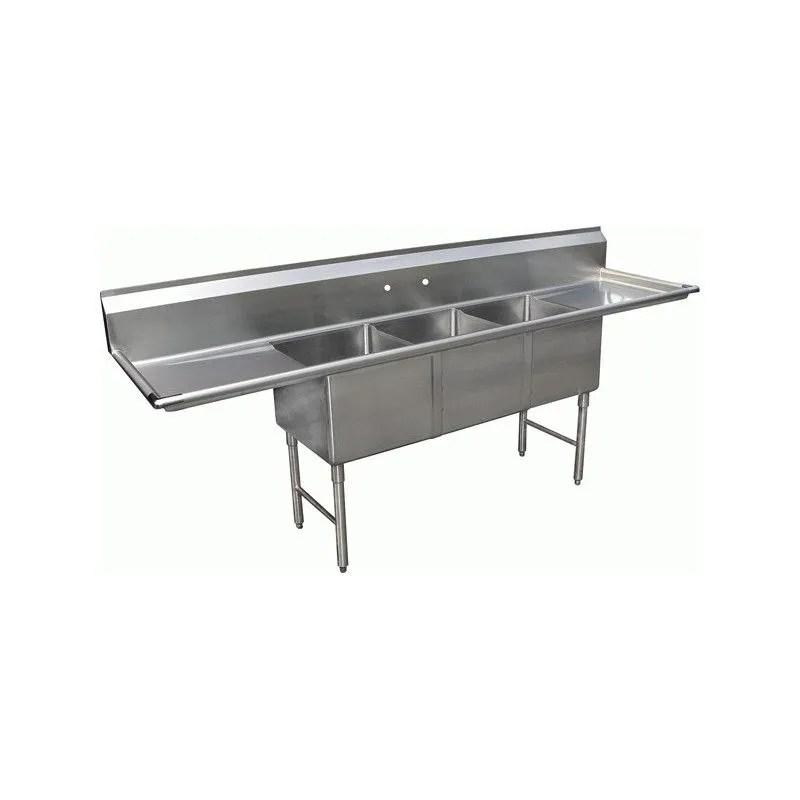 gsw see18183d sink 18 x 18 3 tub 2 drain board