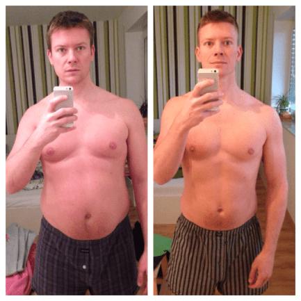Ernährungsumstellung 01 bis 05/2014 - Freeletics Transformation mit Low Carb (Freeletics vorher nachher Foto)