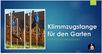 Bauanleitung Klimmzugstange für den Garten - www.activate-the-beast.com