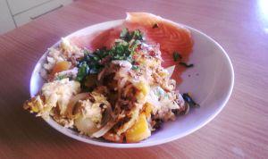 Frühstück mit Lachs