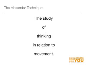 definition of Alexander Technique