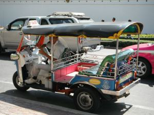 "You might be asking: ""What the hell is a Tuk-Tuk?""  Here is a photo..."