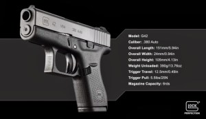 Official Glock G42 Specs