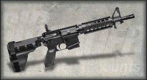 Sig AR-15 pistol with stabilizing arm brace
