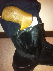 S&W 342 in ankle holster as a backup gun
