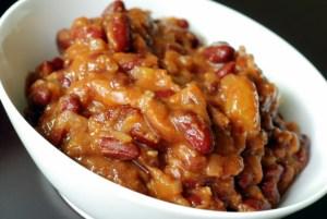 mango BBq beans