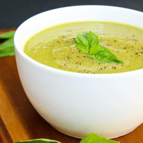Velvety Zucchini Basil Soup