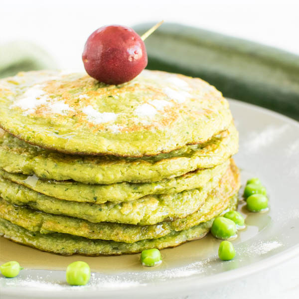 Green Peas Zucchini Sweet Pancakes