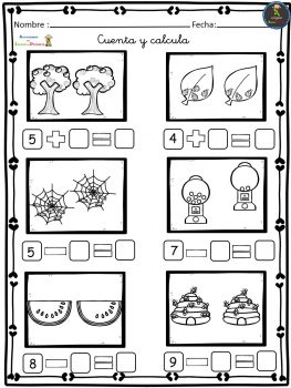 Ejercicios de Matemáticas conteo-sumas-restas Primero Primaria