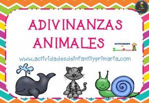 Adivinanzas de Animales.Tarjetas listas para imprimir