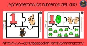 Aprendemos los números del 1 al 10 con este puzzle