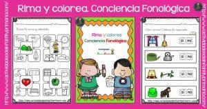 Rima y Colorea. Conciencia Fonológica