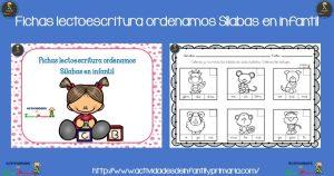 Fichas lectoescritura ordenamos sílabas en infantil