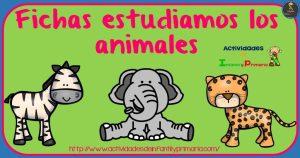 Fichas estudiamos los animales en primaria