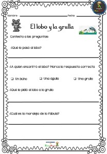 Fabulas Cortas Para Niños Con Preguntas De Comprension Niños Creativos