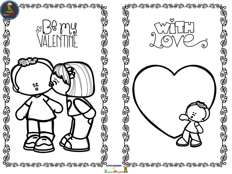 Fichas para colorear en San Valentín (1)