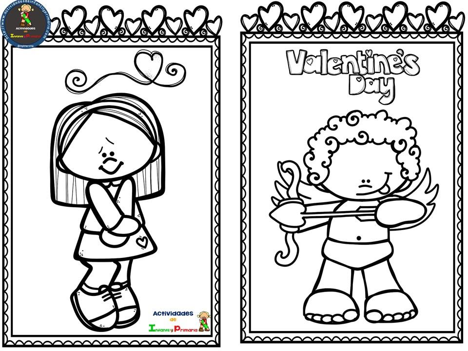 Fichas para colorear en San Valentín (2)