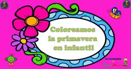 Colección De Fichas Para Colorear La Primavera
