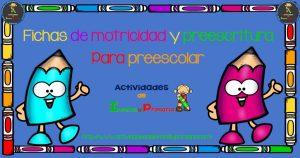 Fichas de motricidad y preescritura para preescolar