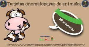 Tarjetas onomatopeyas de animales