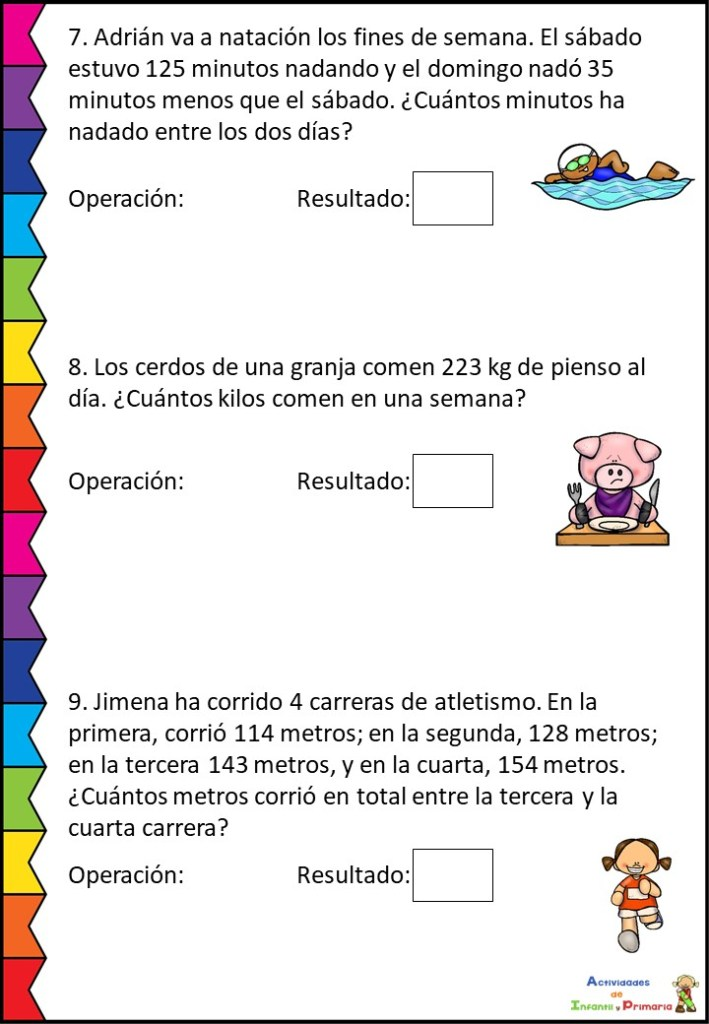 Colección De Problemas Matemáticos 2º Primaria