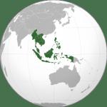 mappemonde asie du sud-est