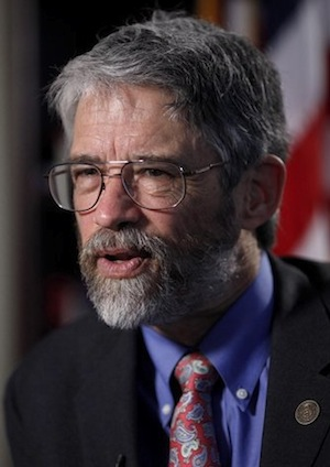 John Holdren talks about his role as President Obama's science adviser during an interview with The Associated Press, in Washington, Wednesday, April 8, 2009. (AP Photo/J. Scott Applewhite)
