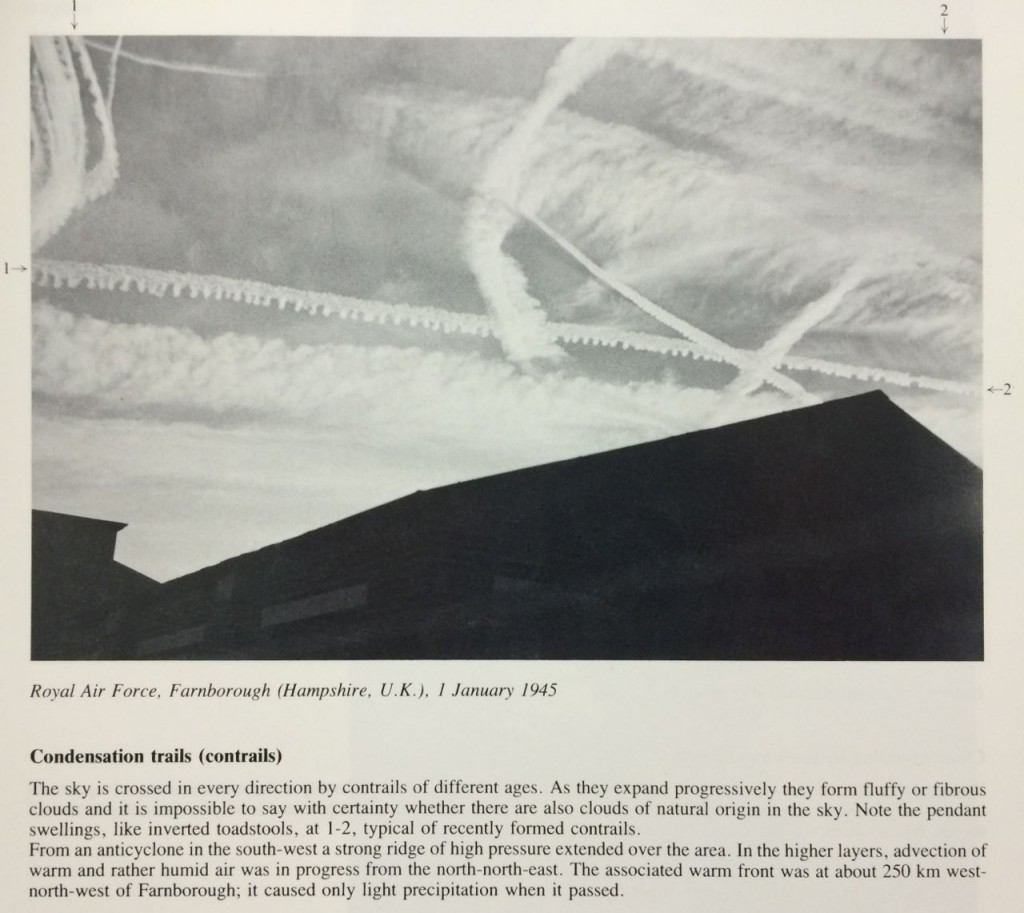 Chemtrails as contrails by the WMO and RAF