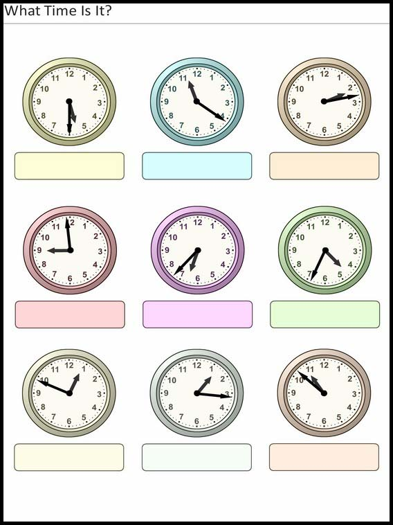 Printable Worksheets For Kids What Time Is It 26